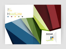 Business abstract geometric financial report brochure template. Vector Stock Image