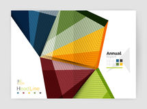 Business abstract geometric financial report brochure template. Vector Stock Photography