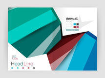 Business abstract geometric financial report brochure template. Vector Royalty Free Stock Photo