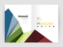 Business abstract geometric financial report brochure template. Vector Royalty Free Stock Image