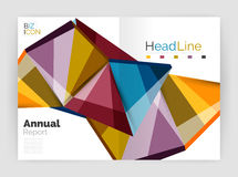 Business abstract geometric financial report brochure template. Vector Royalty Free Stock Photos