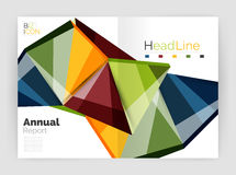 Business abstract geometric financial report brochure template. Vector Stock Photos