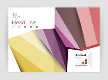 Business abstract geometric financial report brochure template Royalty Free Stock Images