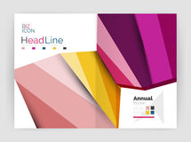 Business abstract geometric financial report brochure template. Vector Stock Photo