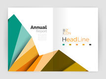 Business abstract geometric financial report brochure template. Vector Stock Images