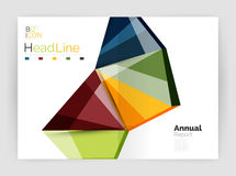 Business abstract geometric financial report brochure template Stock Photo