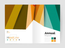 Business abstract geometric financial report brochure template Stock Photos