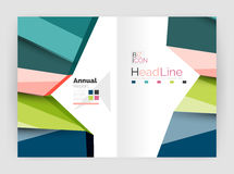 Business abstract geometric financial report brochure template Stock Photography