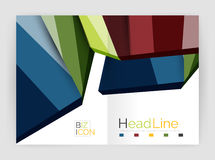 Business abstract geometric financial report brochure template Royalty Free Stock Photography