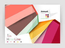 Business abstract geometric financial report brochure template Stock Image