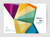 Business abstract geometric financial report brochure template Royalty Free Stock Photos
