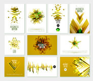 Business Abstract Golden Template. Background. Brochure, annual report, flyer, magazine vector templates. Set of modern luxury corporate designs. Vector Stock Photography