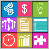 Business Abstract Grid Colorful Stock Photography