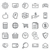 Business Abstract line Icons. Modern Web Collection Isolated on Stock Images