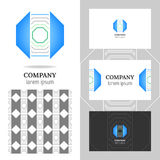 Business abstract logo, icon for your company. Graphic design editable. Stock Image