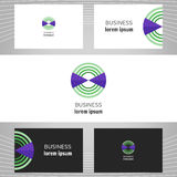 Business abstract logo, icon for your company. Graphic design editable. Royalty Free Stock Photos