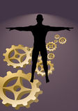 Business abstract man Stock Image