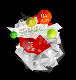Business abstract triangular infographics layout. 3d composition with options Stock Photos