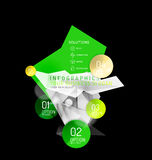 Business abstract triangular infographics layout. 3d composition with options Stock Images