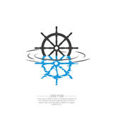 Business Abstract wheel ship  icon. Stock Photos