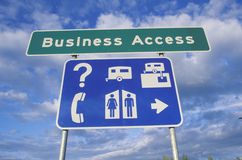Business Access sign Stock Image