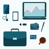 Business accessories set Stock Image