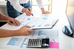 Business accountant banking, business partner offering calculate stock photos