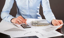 Business accountant working with documents Stock Image