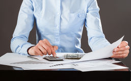 Business accountant working with documents Royalty Free Stock Image