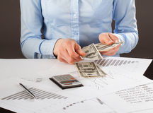Business accountant working Royalty Free Stock Photography