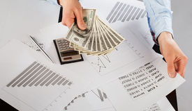 Business accountant working Stock Photos