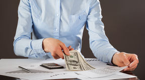 Business accountant working Stock Images