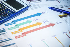 Business accounting background Stock Image