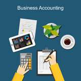 Business accounting concept. Royalty Free Stock Photos