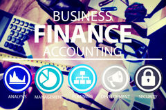 Business Accounting Financial Analysis Management Concept.  Stock Photos