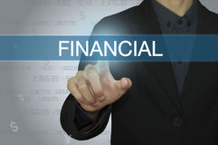 Business with accounting and financial concept. Business man with accounting and financial concept Royalty Free Stock Image