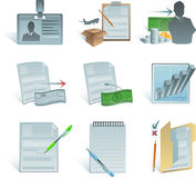 Business accounting icons Royalty Free Stock Photography