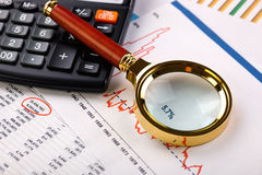 Business accounting Stock Image