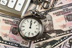 Business accounting. Items for the business expanded in the composition on the table Royalty Free Stock Photo