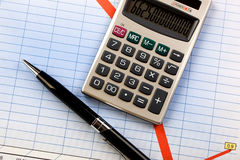 Business accounting. Items for the business expanded in the composition on the table Stock Photos