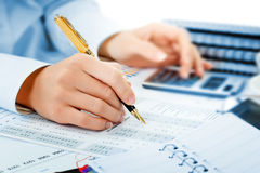 Business accounting Royalty Free Stock Image