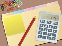 Business accounts blank Stock Photo