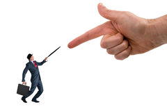 Business accusation Stock Images