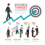 Business achievement target step flat  infographics Stock Photo
