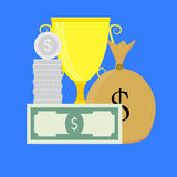 Business achievement vector Royalty Free Stock Images