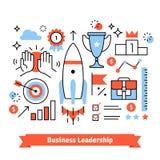 Business achievements symbols background Stock Photo