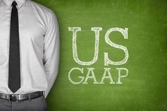 Business Acronym GAAP - Generally Accepted. Accounting Principles on blackboard Stock Image