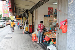 Business activity at pasar seni kuala lumpur Royalty Free Stock Photos