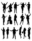 Business Activity Silhouettes Stock Images