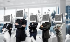 Business addiction on modern technologies. Royalty Free Stock Images